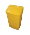 BIN SWING TOP YELLOW 54ltr